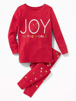"Old Navy 2-Piece ""Joy to the World"" Graphic Sleep Set for Toddler & Baby"