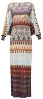 Missoni Cape-back Metallic Crochet-knit Dress - Womens - Blue Multi