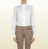 Gucci White Long Sleeve Shirt From Equestrian Collection