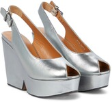 Thumbnail for your product : Clergerie Dylan metallic leather platform sandals