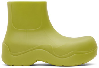 Bottega Veneta Green Matte The Puddle Boots