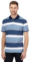 Maine New England Big And Tall Blue Ombre Striped Polo Shirt