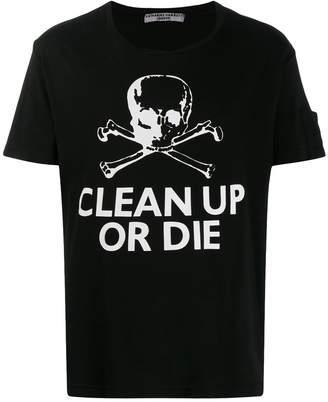Katharine Hamnett printed 'clean up or die' T-shirt