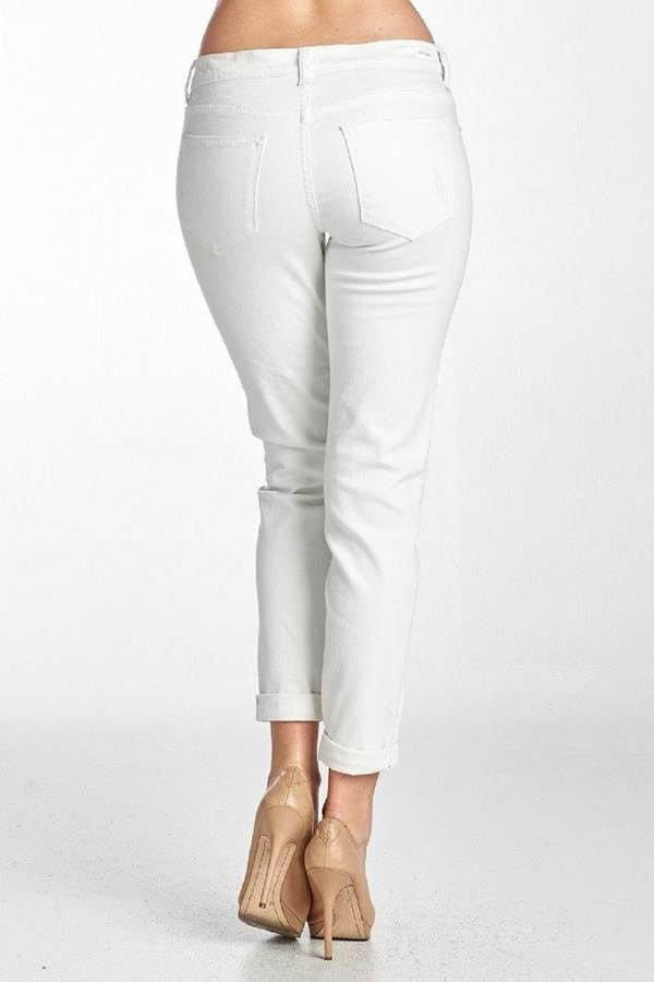 Sneak Peek Sexy Boyfriend Jeans-White