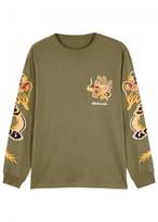 Maharishi Dragon-embroidered Cotton Top