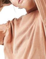 Topshop PETITE Velvet Batwing Sweatshirt