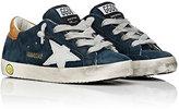 Golden Goose Deluxe Brand Superstar Suede Sneakers-NAVY, TAN