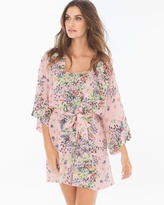 Soma Intimates Daylilly Crepe Short Robe Cover Up