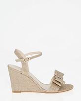Le Château Glitter Mesh Bow Wedge Sandal