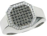 Effy Jewelry Gento Black and White Diamond Ring, 0.57 TCW