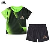 adidas Green Football Silo Shorts and Tee