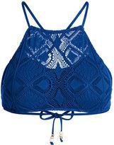 Polo Ralph Lauren Crochet-Overlay Bikini Top