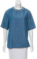 3.1 Phillip Lim Embellished Chambray Top