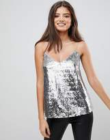 Asos Fuller Bust Sequin Cami With V Neck