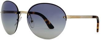 Prada Gold-tone round-frame sunglasses