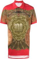 Givenchy dollar print polo shirt