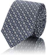 Fendi Men's Diamond-Jacquard Silk-Blend Necktie
