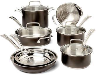 Cuisinart 11-Piece Black Stainless Cookware Set
