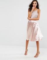 Boohoo Slinky Pleated Midi Skirt