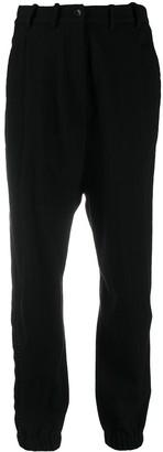 Masnada Elastic-Hem Pinstripe Trousers