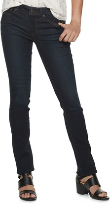 Sonoma Goods For Life Petite SONOMA Goods for Life Curvy Mid-Rise Straight-Leg Jeans