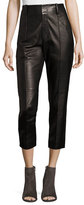 Vince Leather Carrot Pants, Black