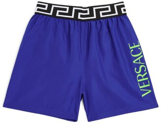 Versace Kids Greca Waistband Swim Shorts (4-14 Years)