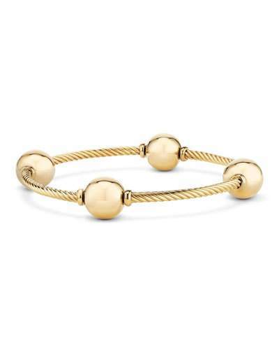 David Yurman 12mm Mustique 18K Dome Station Bracelet