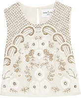 Needle & Thread Embellished Chiffon Top - Ivory