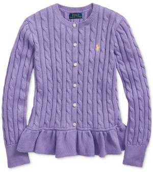 Polo Ralph Lauren Big Girls Peplum Cardigan
