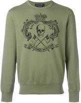 Alexander McQueen skull crest print sweatshirt - men - Organic Cotton - S