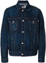 Love Moschino paint splattered denim jacket - men - Cotton - 48
