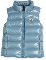 Moncler Ghany Quilted Down Vest, Size 4-6