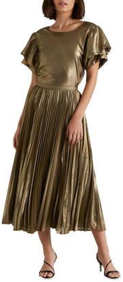Seed Heritage Pleated Lamé Skirt