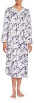 Carole Hochman Petite Long Sleeve Shirred Gown