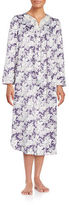 Carole Hochman Plus Midi Floral Satin Nightgown