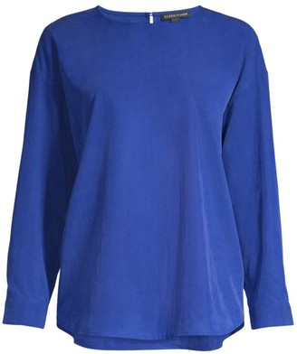 Eileen Fisher Bracelet-Sleeve Blouse