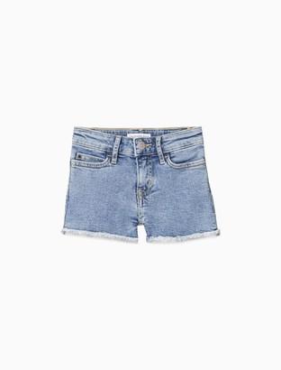 Calvin Klein Girls Slim Fit High Rise Denim Short
