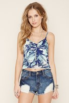 Forever 21 FOREVER 21+ Palm Tree Print Cropped Cami