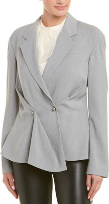Jason Wu Pleated Silk-Lined Wool-Blend Jacket