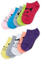 Steve Madden Girls 4-6x) 10-Pack Low Cut 7 Day Socks