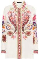 Etro Printed silk and cotton shirt