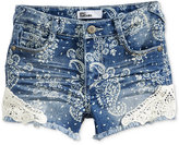 Epic Threads Lace-Trim Paisley Denim Shorts, Toddler & Little Girls (2T-6X), Only at Macy's