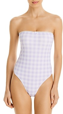 Charlie Holiday Sienna Gingham One-Piece Swimsuit