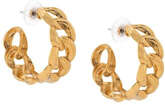 Jennifer Behr Tara chain hoop earrings