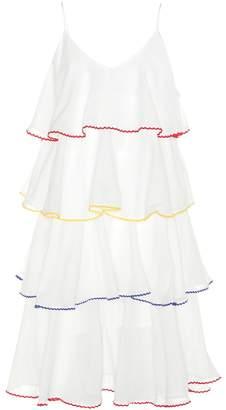 Lisa Marie Fernandez Imaan tier flounce cotton dress