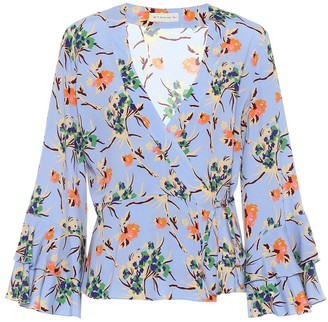 Etro Printed wrap-front top