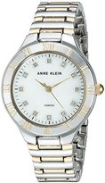 Anne Klein Women's Quartz Metal and Alloy Dress Watch, Color:Two Tone (Model: AK/2709MPTT)
