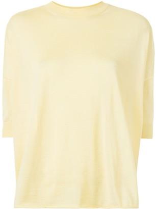 Jil Sander Three-Quarter Sleeve Knitted Top