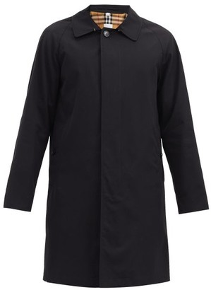 Burberry Camden Single-breasted Cotton-gabardine Car Coat - Mens - Black